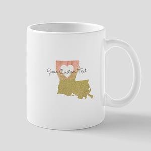 Personalized Louisiana State Mugs