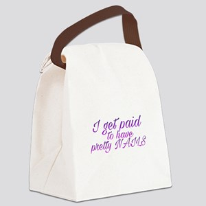 Paid for pretty nails Canvas Lunch Bag
