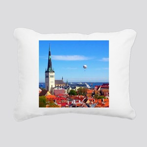 Flying Ball of the Sky Rectangular Canvas Pillow