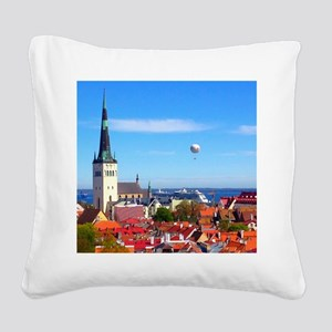 Flying Ball of the Sky Square Canvas Pillow