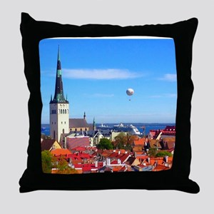 Flying Ball of the Sky Throw Pillow