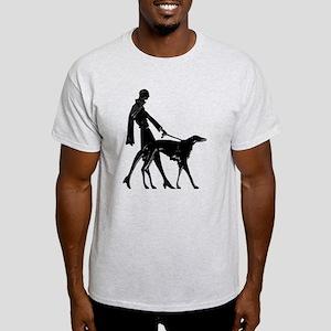 Deco Lady Walking Borzo Women's Cap Sleeve T-Shirt