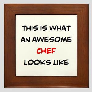 awesome chef Framed Tile