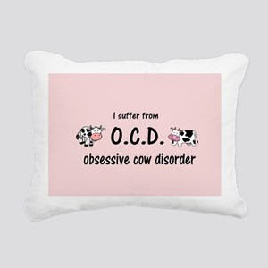 Obsessive Cow Disorder Rectangular Canvas Pillow