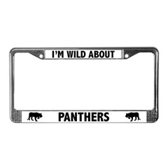 Wild About Panthers License Plate Frame