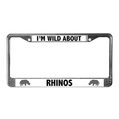 Wild About Rhinos License Plate Frame
