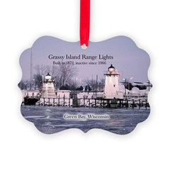 Grassy Island Range Lights Ornament