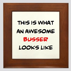 awesome busser Framed Tile