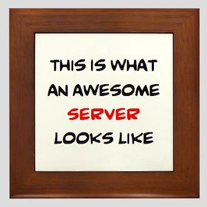 awesome server Framed Tile