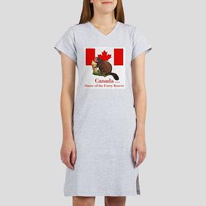 Canada - Beaver Home Ash Grey T-Shirt