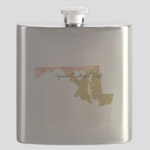 Personalized Maryland State Flask