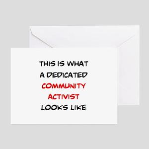 dedicated community activist Greeting Card