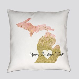 Personalized Michigan State Everyday Pillow