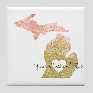Personalized Michigan State Tile Coaster