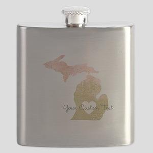Personalized Michigan State Flask