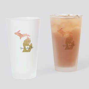 Personalized Michigan State Drinking Glass
