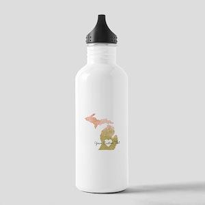Personalized Michigan State Water Bottle