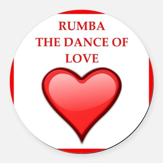 rumba Round Car Magnet