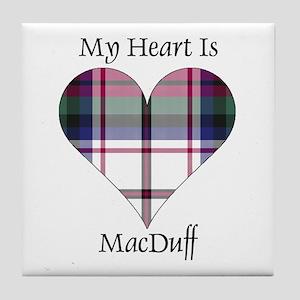 Heart-MacDuff dress Tile Coaster