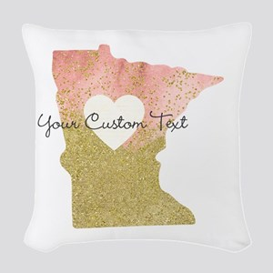 Personalized Minnesota State Woven Throw Pillow