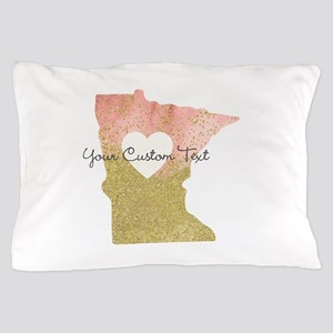 Personalized Minnesota State Pillow Case