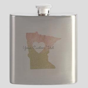 Personalized Minnesota State Flask