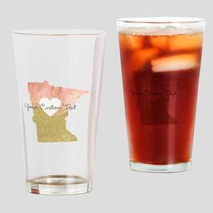 Personalized Minnesota State Drinking Glass