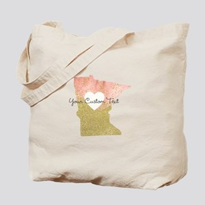 Personalized Minnesota State Tote Bag
