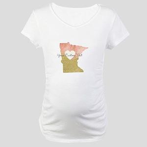 Personalized Minnesota State Maternity T-Shirt