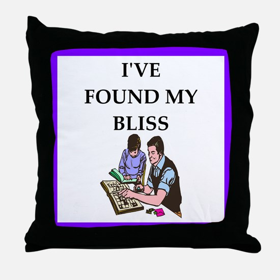 stamp collecting Throw Pillow