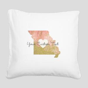 Personalized Missouri State Square Canvas Pillow