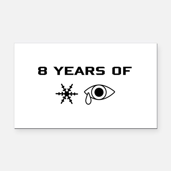 8 Years (black) Rectangle Car Magnet