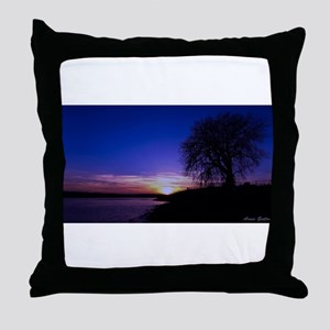A Tree,a River, and a Sunset Throw Pillow