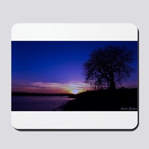 A Tree,a River, and a Sunset Mousepad