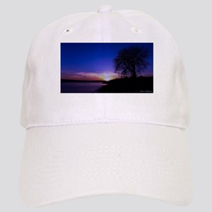 A Tree,a River, and a Sunset Baseball Cap