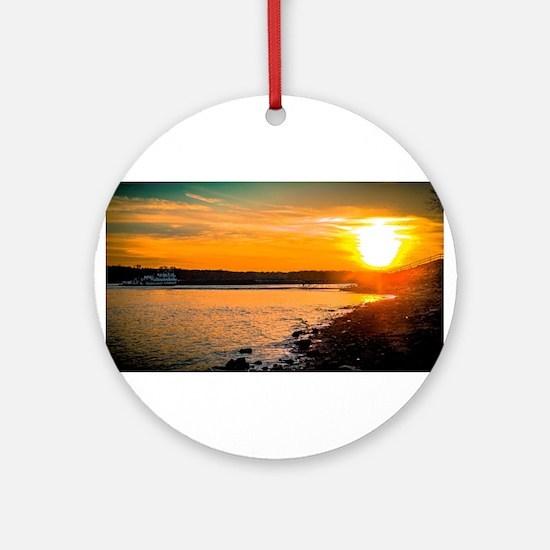 Into the Sun Round Ornament