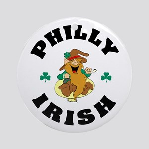 Funny Philly Irish Ornament (Round)