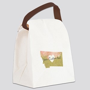 Personalized Montana State Canvas Lunch Bag