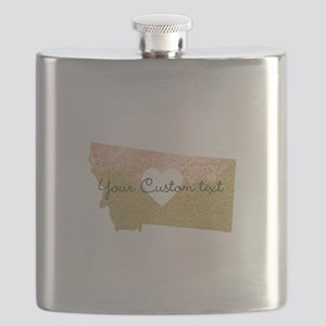 Personalized Montana State Flask