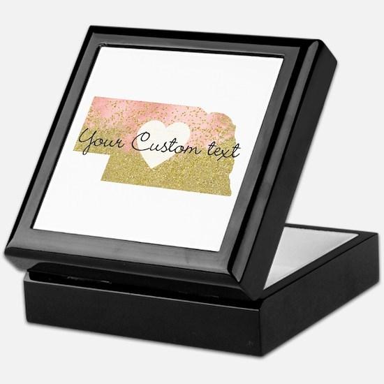 Personalized Nebraska State Keepsake Box