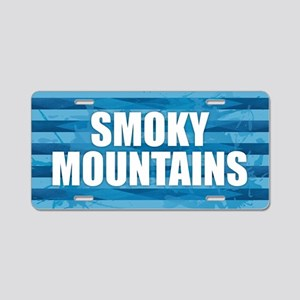 Smoky Mountains Aluminum License Plate