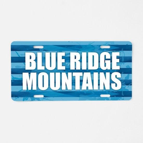 Blue Ridge Mountains Aluminum License Plate