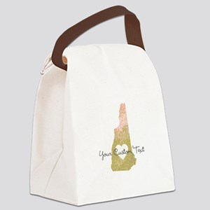 Personalized New Hampshire State Canvas Lunch Bag