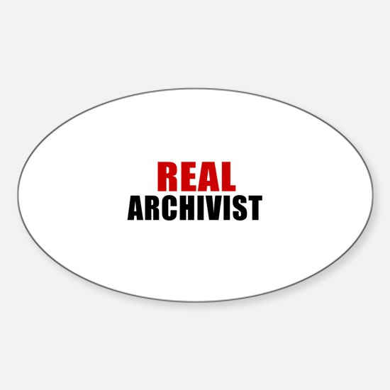 Real Archivist Sticker (Oval)