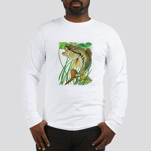 Largemouth Bass with Lily Pads Long Sleeve T-Shirt