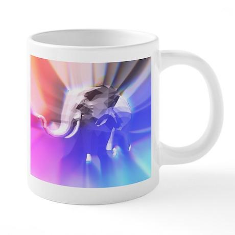 Digital Rainbow Elephant Mugs