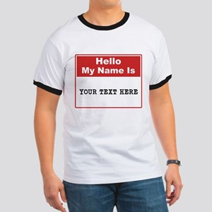 Custom Name Tag Ringer T
