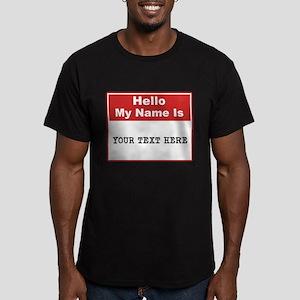 Custom Name Tag Men's Fitted T-Shirt (dark)