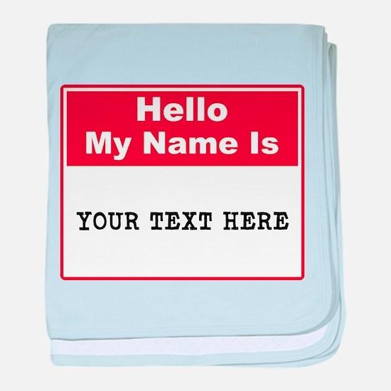 Custom Name Tag baby blanket