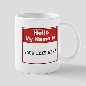 Custom Name Tag Mug